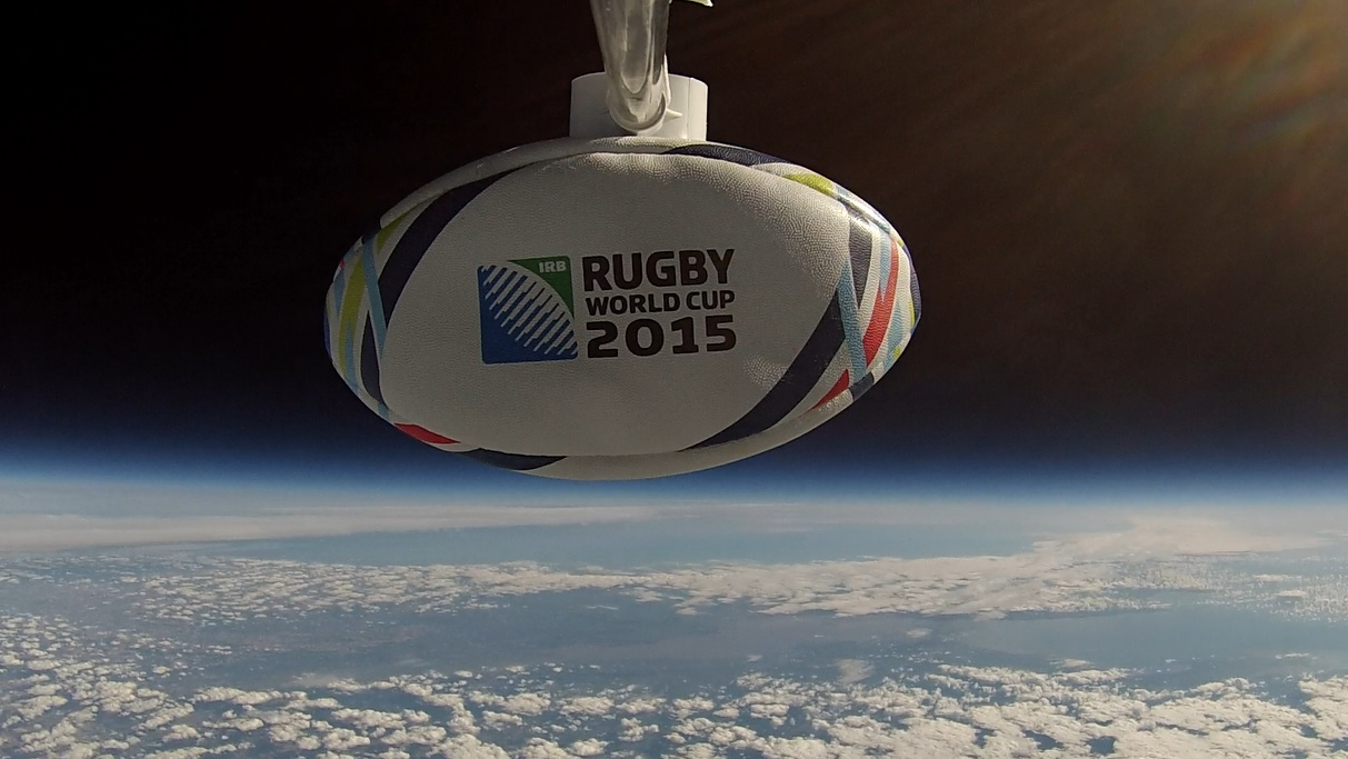 Rugby World Cup 2015. Commissioned flight for Leicester and Rutland Sport and Rugby World Cup organisation.